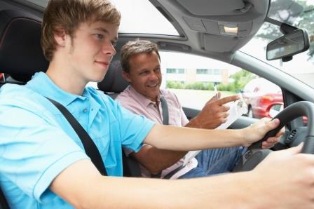 taking driving test