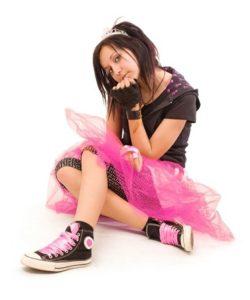 teen girl with attitude on planet girl