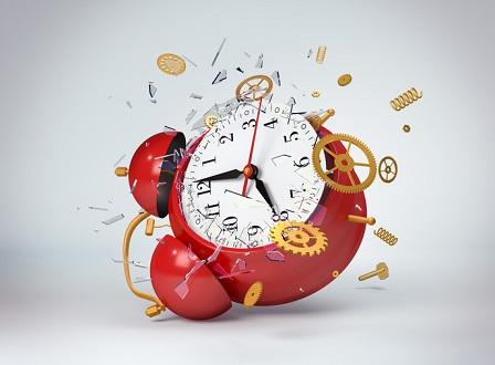 Red clock broken