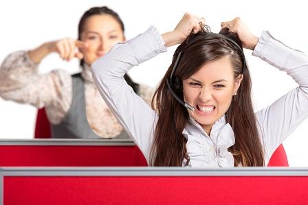 Enraged call center agent