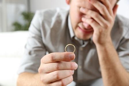 Sad husband after divorce