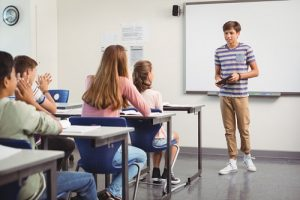 performance anxiety in teenagers when presenting to class