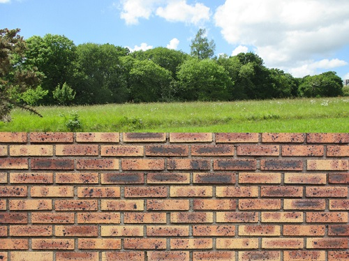 boundaries for your family brick fence
