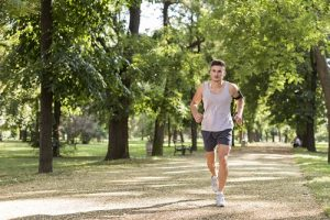 mental and emotional benefits of exercise - man jogging
